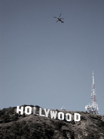 Hollywood Sign Helicopter - P 2013