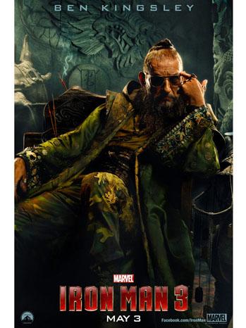 Iron Man 3 Ben Kingsley Poster Art - P 2013