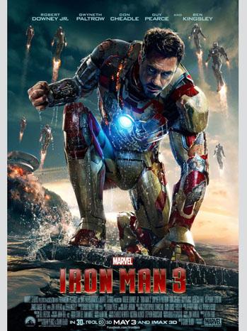 Iron Man 3 Robert Downey Jr Poster Art - P 2013