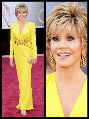 Jane Fonda Oscar Look Split - P 2013