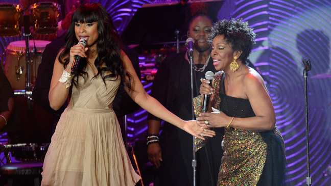 Jennifer Hudson and Gladys Knight at Clive Davis Grammy Party