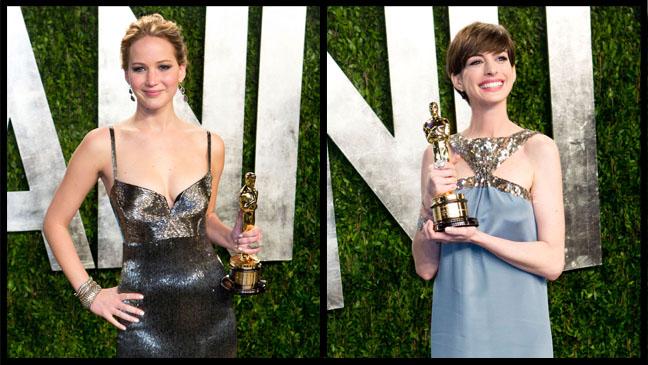 Jennifer Lawrence Anne Hathaway Vanity Fair - H 2013