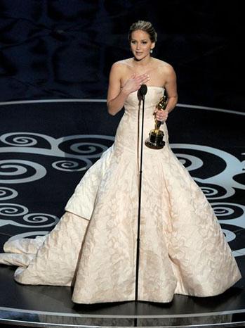 Jennifer Lawrence Oscar Win - P 2013