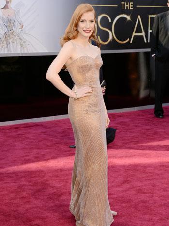 Jessica Chastain Oscars 2 - P  2013