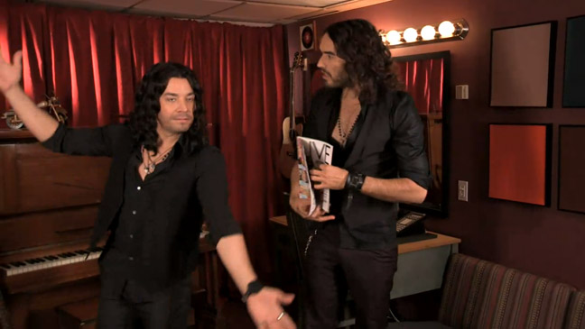 Jimmy Fallon Impersonating Russell Brand - H 2013