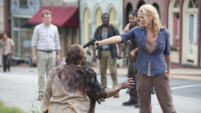 The Walking Dead Laurie Holden Gun Zombie - H 2013