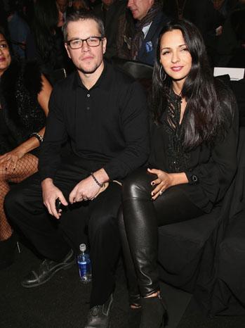Matt Damon Luciana Barroso at Naeem Khan Fall 2013 - P 2013