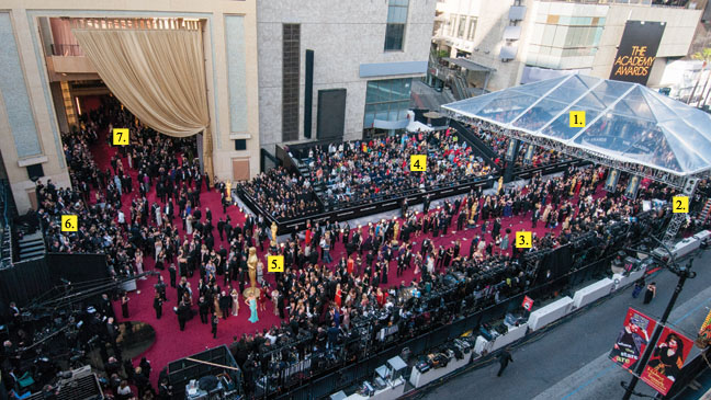 Oscars Red Carpet Politics Aerial Numbered - H 2013