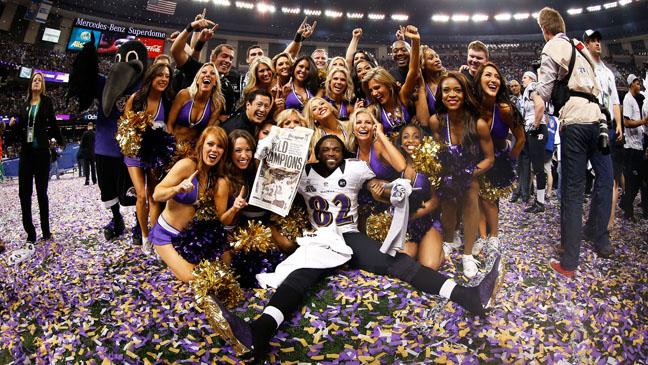 Ravens Cheerleaders Celebrate Super Bowl Win - H 2013