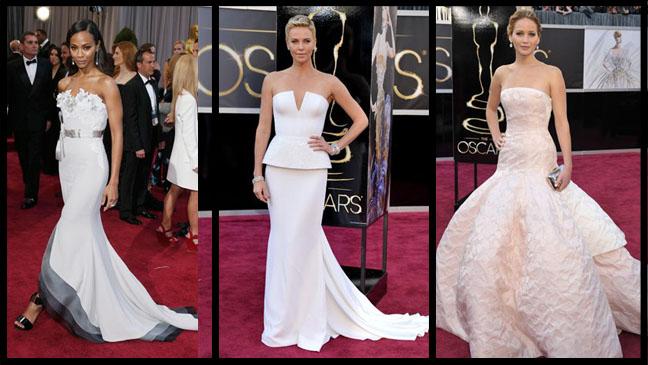 Saldana Theron Lawrence Oscars Split - H 2013