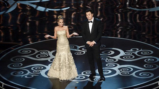 Seth Macfarlane Kristin Chenoweth Oscars - H 2013