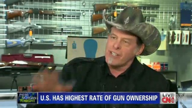 Ted nugent on Piers Morgan Gun Control - H 2013