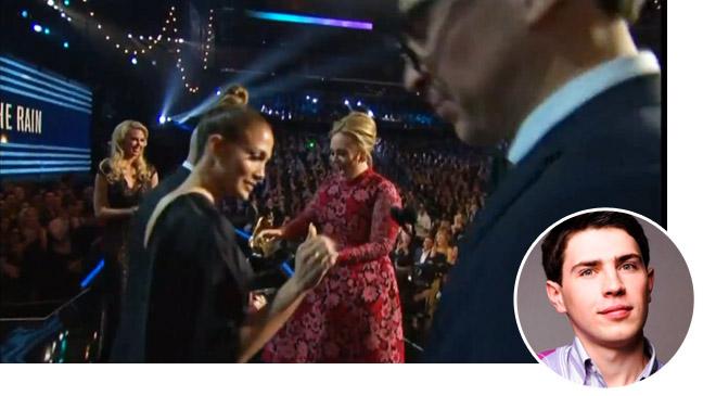 J.Lo Adele on stage with Vitalli Sediuk inset - H 2013