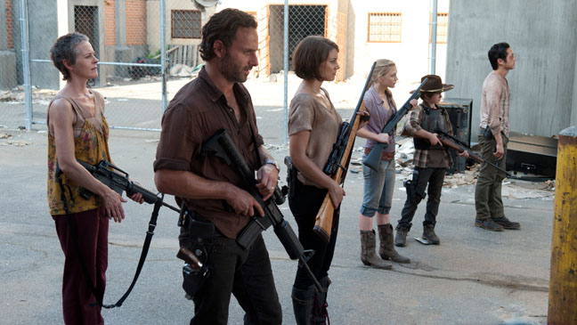 The Walking Dead 311 Episodic Cast with Guns - H 2013