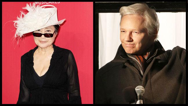 Yoko Ono Julian Assange Split - H 2013