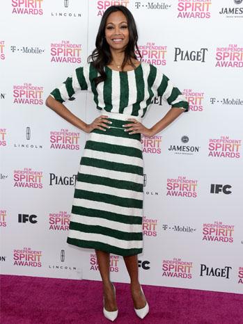 Zoe Saldana Indie Spirit Awards - P 2013