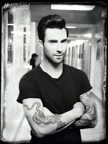 Adam Levine Black and White Portrait - P 2013