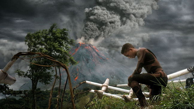After Earth Jaden Smith in Front of Volcano - H 2013
