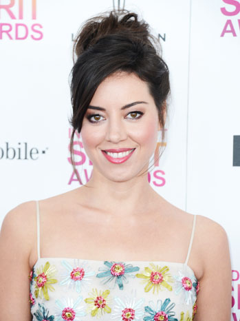 Aubrey Plaza Spirit Awards Arrivals Headshot - P 2013