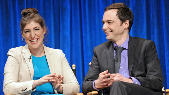 The Big Bang Theory at Paleyfest - Bialik and Parsons - H 2013