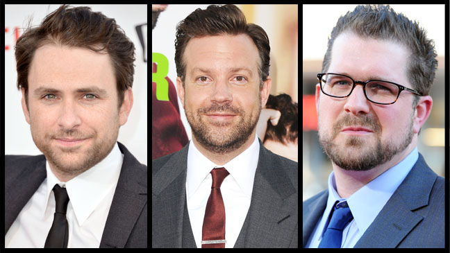 Charlie Day Jason Sudeikis Jeff Gordon Split - H 2013