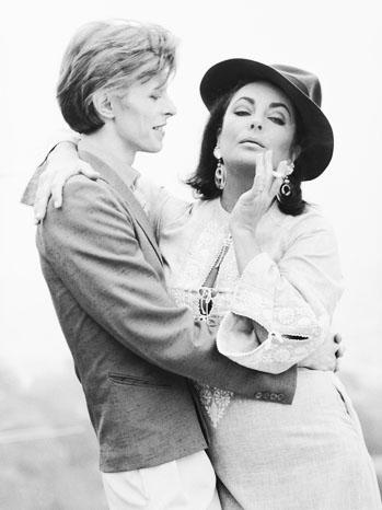 David Bowie Elizabeth Taylor 1975 - P 2013