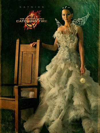 Katniss Catching Fire Portrait - P 2013