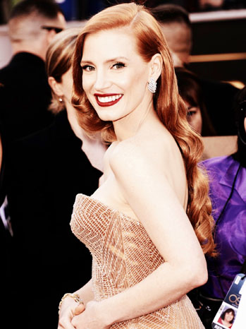 Jessica Chastain Oscars Edited High Contrast - P 2013