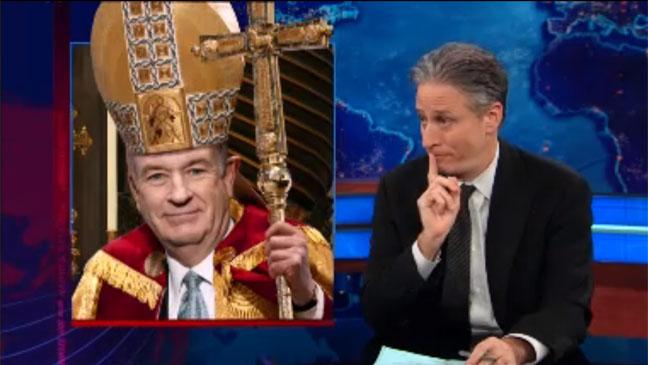 Jon Stewart Bill O'Reilly Pope - H 2013
