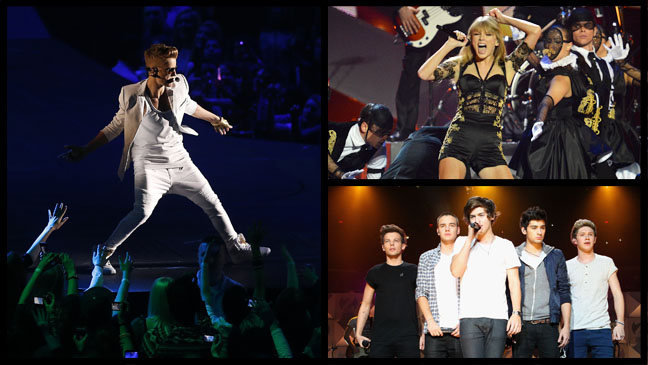 Justin Bieber Taylor Swift One Direction - H 2013