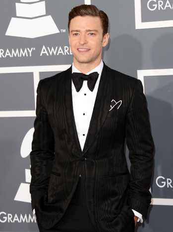 Justin Timberlake Tom Ford Suit Grammy Arrivals - P 2013