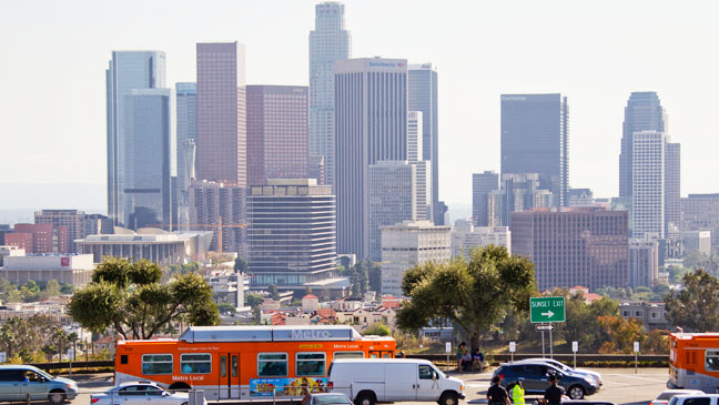 Downtown Los Angeles Skyline - H 2013