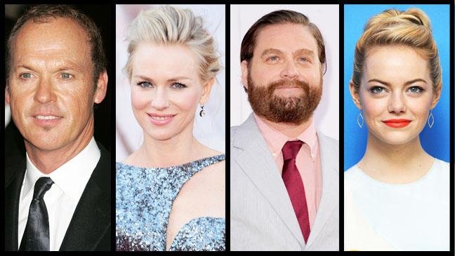 Michael Keaton Naomi Watts Zach Galifianakis Emma Stone Split - H 2013