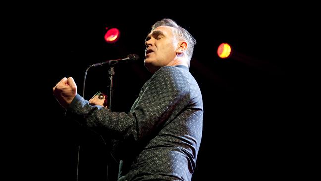 Morrissey Performing at Staples 2 - H 2013