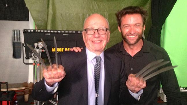 Rupert Murdoch Hugh Jackman - H 2013