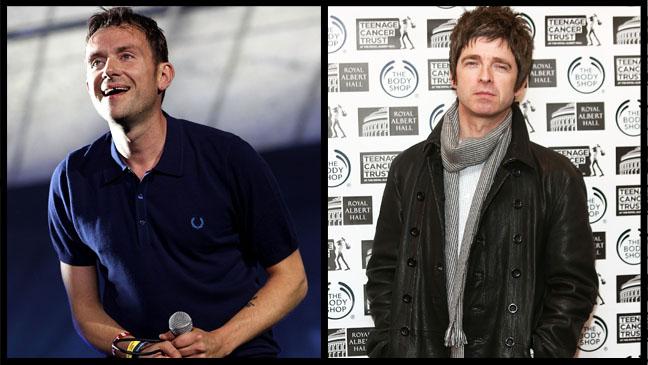 Damon Albarn Noel Gallagher Split - H 2013