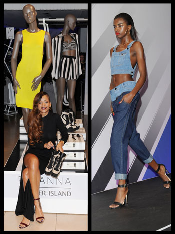 Rihanna Clothing Line Launch Split - P 2013