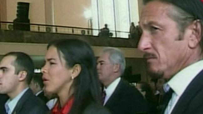 Sean Penn Hugo Chavez Funeral - H 2013