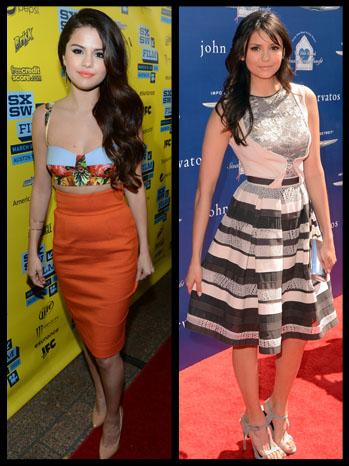 Fashion Frock Off Selena Gomez Nina Dobrev Vie For Best Spring Dress Poll Hollywood Reporter
