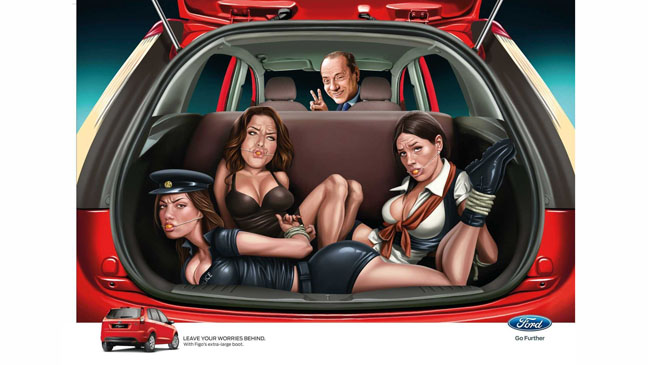 Silvio Berlusconi Ford India Ad