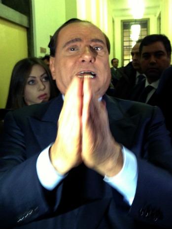 Silvio Berlusconi pray - P 2013