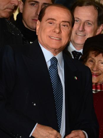 Silvio Berlusconi standing -P 2013