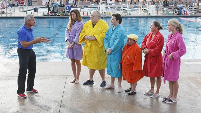 Splash Pilot Episodic Greg Louganis with cast - H 2013