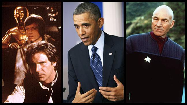 Star Wars Barack Obama Star Trek Split - H 2013