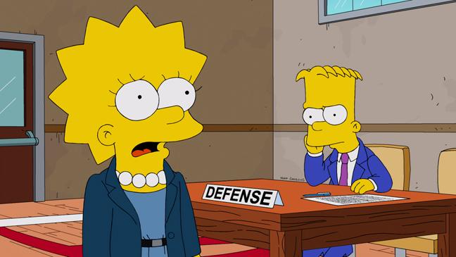 The Simpsons Dark Knight Court Episodic Bart Lisa - H 2013