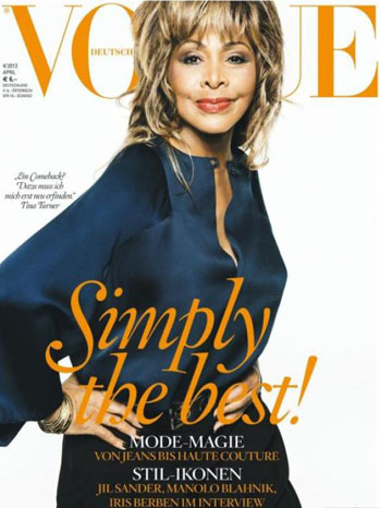 Tina Turner Germany Vogue Cover - P 2013