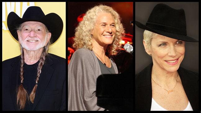 Willie Nelson Carole King Annie Lennox Split - H 2013