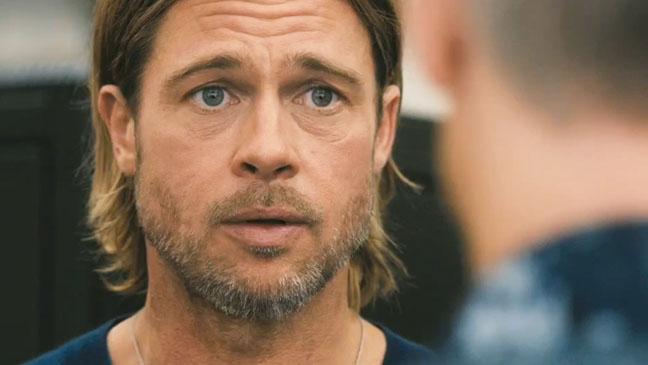 World War Z Brad Pitt Close Up Trailer Screengrab - H 2013