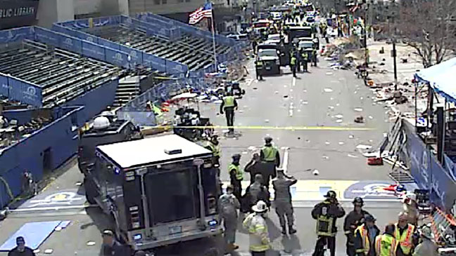 Boston Marathon Explosion Scene Screengrab - H 2013