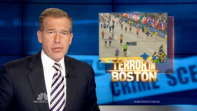 Brian Williams NBC Nightly News Boston Marathon Screengrab - H 2013